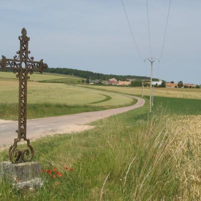 Croix métallique au lieu dit Pommereau