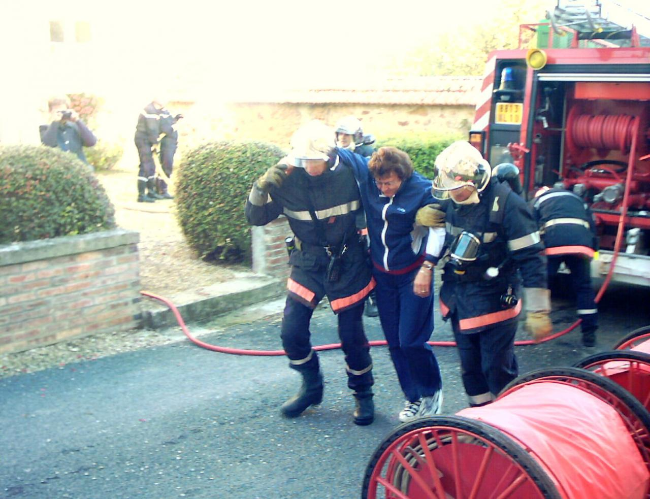 intervention des pompiers 9.10.05